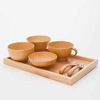 天然木製 キッズ食器セット ナチュラル