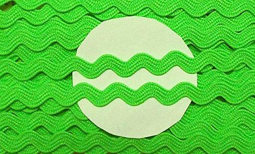 Großhandel für Schneiderbedarf 5 m Zackenlitze neon grün 8mm 0,99 €/m