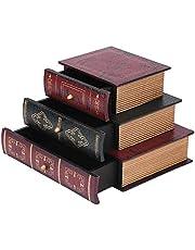Drewniana szkatułka, organizer na biurko, drewniana skrzynia z 3 szufladami, w stylu vintage, do przechowywania biżuterii, ręcznie robiony organizer, ekspozycja, do zdjęć, dekoracji
