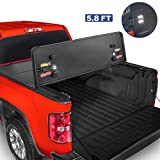 MOSTPLUS Tri-Fold Hard Truck Bed Tonneau Cover On Top Compatible for 2019-2021 Chevy Silverado GMC Sierra 1500 3 Fold...