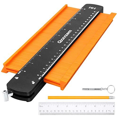 Qxzvzem 型取りゲージ コンターゲージ 測定ゲージ 輪郭コピー 曲線定規 250mm/10インチ