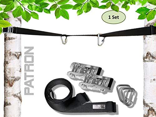 WATSABRO Baum H/ängende Schaukel Befestigung Hochwertiges Polyesterfaserband mit 4 Karabinerhaken und 2 Drehschnallen f/ür Baumschaukel-H/ängematte