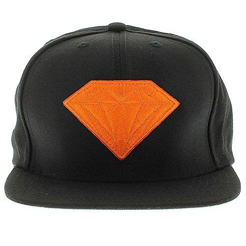 Diamond Supply Co. Men Emblem Jewel Gem Snapback Hat OSFA Black