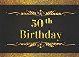 50th BIRTHDAY: ELEGANT GUEST BOOK TO SIGN IN | RECORD THEIR SHORT MESSAGES, WISHES AND GREETINGS | BONUS GIFT LOG INCLUDED | FIFTY 50 YEARS OLD.