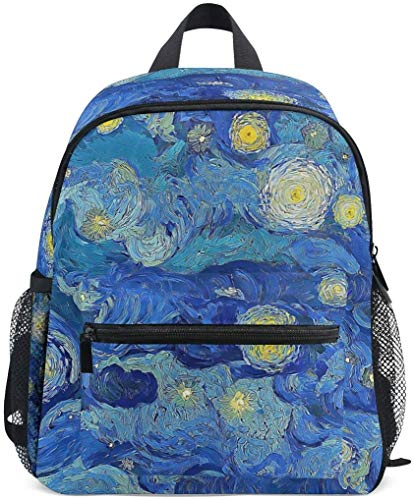 NB UUD Mini Backpack Oil Painting Galaxy Star Daily Backpack for Travel