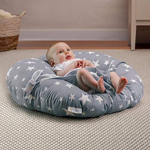 BANBALOO-Babynest nestchen-Babynestchen Kokon kuschelnest für Neugeborene - Babywippe-Baby Day Kissen - Baby Nest - Babyliege-Sitzsack Lagerungskissen Liege-Kuschelnest. Originelles Geschenk Geburt.