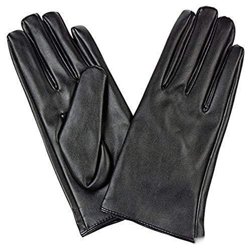 フェイクレザー ショート グローブ パーティー コスプレ 手袋 ブラック M
