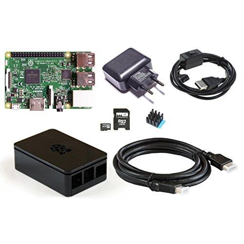 FrankenMatic Raspberry Pi 3 - OpenElec Set 7-teilig - Pi/Case/HDMI Kabel/OpenElec/2,5A Netzteil/Kabel mit Schalter/Kühlkörper