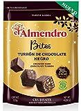 El Almendro Bites De Turrón De Chocolate Negro Crujiente 70% - 120 Gr