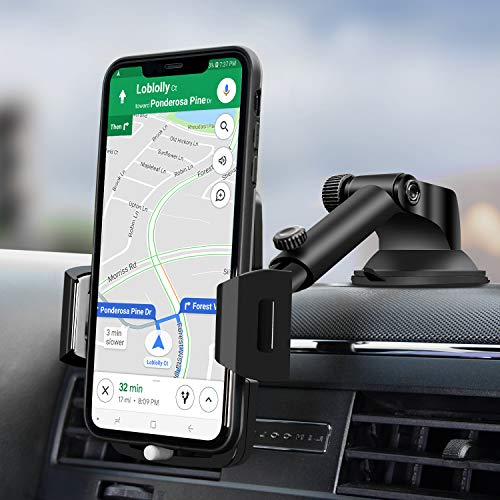 Car Phone Mount,Amoner Car Phone Holder,Dashboard phone car holder , Washable Strong Sticky Gel Pad Compatible iPhone 11 pro,11 pro max,X,XS,XR,8,7,6 Plus,Galaxy S20,10,9,8,Google Nexus