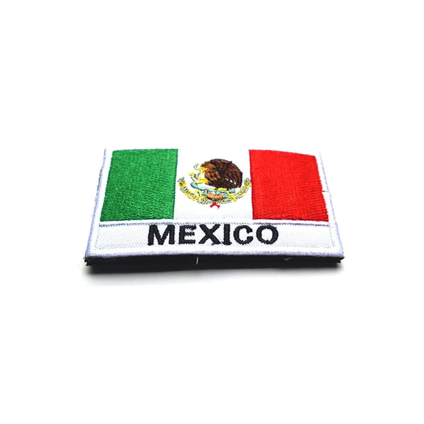 Toonol Embroidery Badge Mexican National Flag Of Mexico Military Embroidered Badges Tactical Patch For Outdoor Clothing Cap Bag