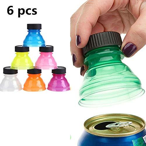 NMSLL Soda Saver Snap Flaschenverschluss, wiederverwendbarer staubdichter Trinkflaschenverschluss für kohlensäurehaltige Getränke/Bier/Energiegetränke (6 Stück)