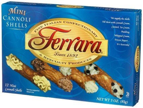 Ferrara Max 88% Branded goods OFF - Mini Cannoli Shells by Boxes 3 oz.
