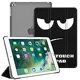 FINTIE Funda para iPad 9.7 (2018/2017), iPad Air 2, iPad Air - Trasera Transparente Carcasa Ligera con Función de Soporte y Auto-Reposo/Activación, No Tocar