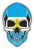 Skull Flag Argentina Vinyl Decal Bumper Sticker/Pegatina