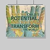 Montessori Quote Poster – Free The Child – 16 x 20 – Motivational – Inspirational – Teacher Lounge Decor – School – Professional Development – Educator – Administrator