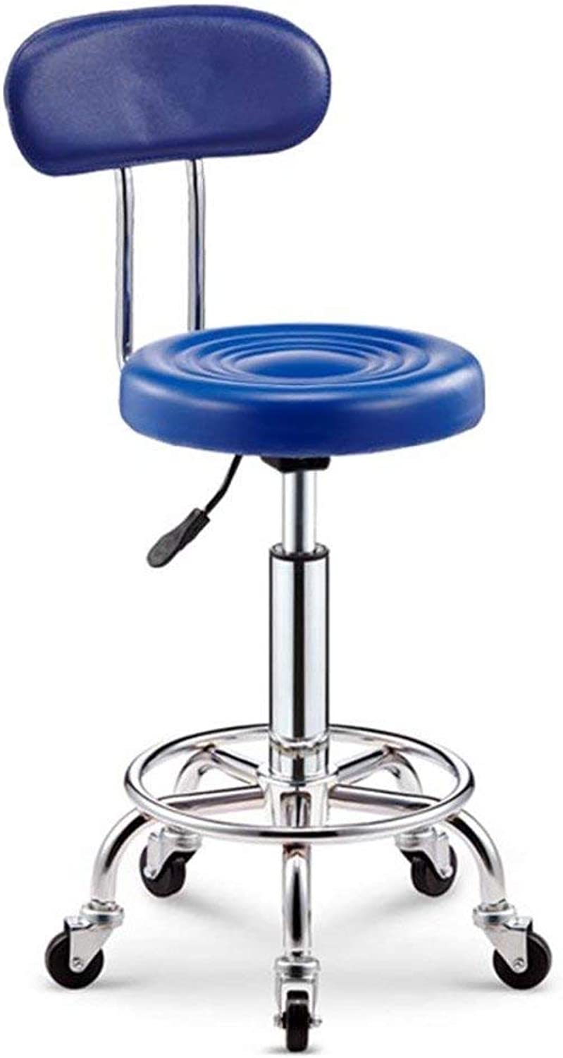DYR Swivel Wheels Bar stools, Breakfast stools bar Chair Bar stools with Back Adjustable Height High Chair for Kitchen Home Counter-E