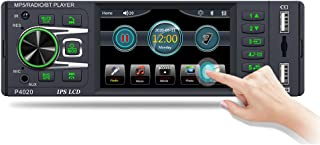 $49 » Car Audio Receiver Radio Bluetooth Hands-Free Calling 1Din Car Stereos with FM Radio Car Multimedia Player with USB Aux-in...