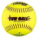 Half Dozen ASA Evil Ball 12' Softballs 52 COR 300 Compression 6 Balls MP-Evil-RP-ASA-Y