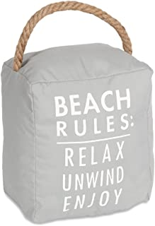 Pavilion Gift Company Beach Rules: Relax Unwind Enjoy Door Stopper