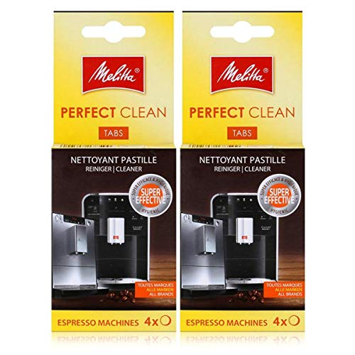 Melitta Perfect Clean Espresso Machines ReinigungsTabs 4x1,8g (2er Pack)