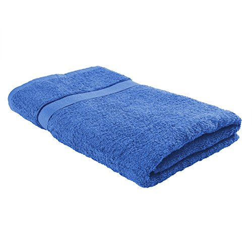 TerryLand Weiches Frottee Duschtuch/Badetuch 70x140 cm - 100% Baumwolle, Oeko-Tex Standard 100, Bordüre - Farbe: Princess Blue