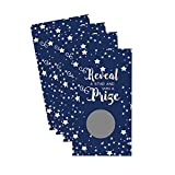 Navy Star Party Scratch Off Game Set of 28 for Baby Shower, Bridal Shower or Birthday Fun by Paper Clever Party