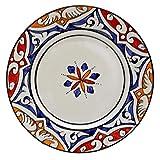 Etnico Arredo 1409181220 - Juego de 4 Platos de cerámica Dulce marroquí, Pintados a Mano