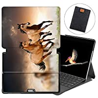 MAITTAO Case For Microsoft Surface Go 2018, Folio Smart Stand Cover with Pen Holder for Surface Go 10-inch Tablet Sleeve Bag 2 in 1, Compatible with Type Cover Keyboard, Akhal-Teke Horse 5