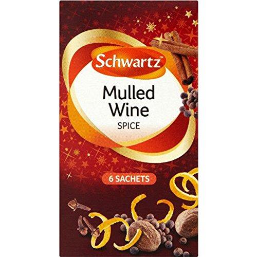 Schwartz 6 paquetes de especias de vino caliente (36 bolsas)