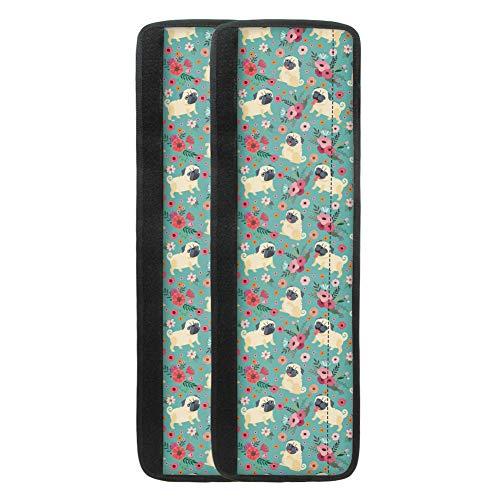 UOIMAG - Juego de 2 fundas para tirador de puerta de nevera con diseño de perro con forma de flor, para cocina, armario, microondas, lavavajillas, palos de velcro