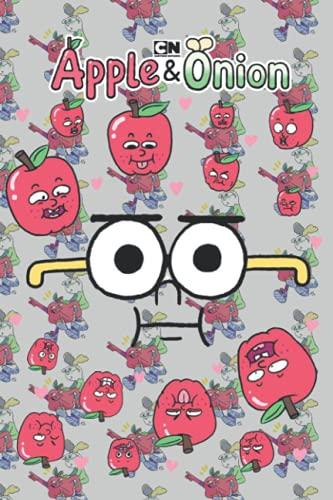 Apple & Onion Notebook: Apple & Onion Notebook White Paper Blank Journal...