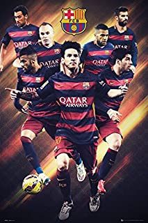 FC Barcelona - Sports Poster/Print (Soccer/Football) (The Players 2015/2016) (Lionel Messi.) (Size: 24 inches x 36 inches)