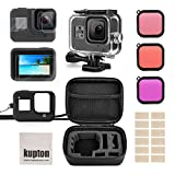 Kupton Accessories Kit for <span class='highlight'>GoPro</span> <span class='highlight'>Hero</span> 8 Bundle Include Waterproof Housing Case   Tempered Glass Screen Protector   Carrying Case   Silicone Sleeve   Snorkel Filter   Anti-Fog Inserts for Go Pro <span class='highlight'>Hero</span>8