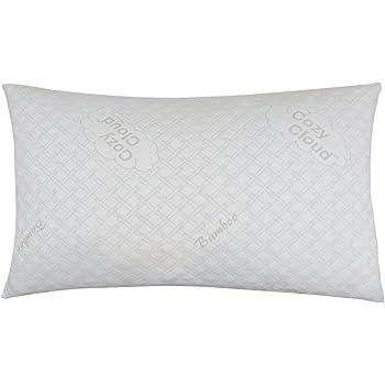 CozyCloud Deluxe Hypoallergenic Bamboo Shredded Memory Foam Pillow - King Size Firmer Design