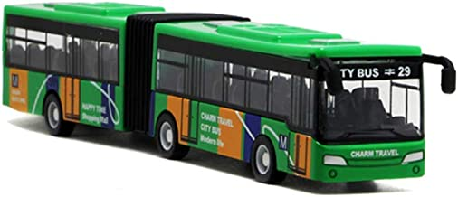 Local Makes A Comeback  - Modelo de aleación de bus de versión extendida de camuflaje de sección doble, juguete de bus de simulación,Verde