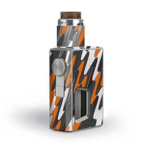 Skin Decal Vinyl Wrap for GeekVape Athena Squonk Kit Vape Kit skins stickers cover / Puzzle Orange Grey trippy