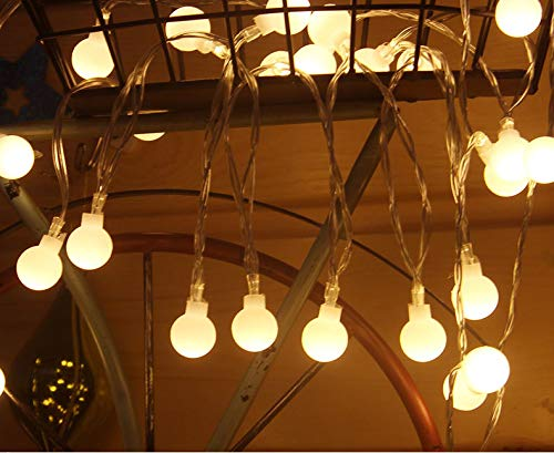 HCCX - Lote de 60 luces LED redondas, con batería impermeable al agua, mando a distancia de hadas, 8 modos, apto para jardín al aire libre, fiestas, interior, casa, boda, Navidad, 10 m, 100 LED