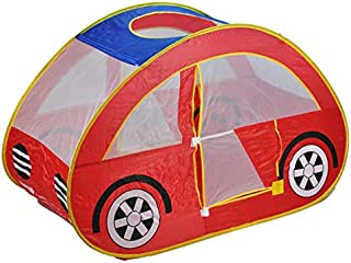 Kids Eco-Friendly Car Shape Hideaway Peek-A-Boo Colourful Play House Tent