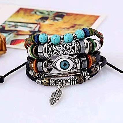 Vintage Bohemia Beaded Multilayer Hand Woven Bracelet Bracelet Luck Men Women Braided String Adjustable Chain