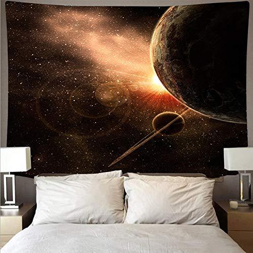 KHKJ Espectacular Espacio Galaxy Nebula Paño de Pared Tapiz de Arte Grande Tapiz psicodélico Toalla de Playa Manta de Fibra A3 200x150cm