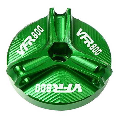 Motorcycle M20 * 2,5 CNC Aluminium Motorolie Cap Plug Oil Filler Cup Cover Bolt Schroef for Honda VFR800 / VFR800F / VFR 800 VTEC/Fi / W1 (Color : Green)
