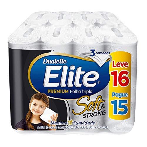 Papel Higiênico Elite Premium Folha Tripla Soft, 16 rolos