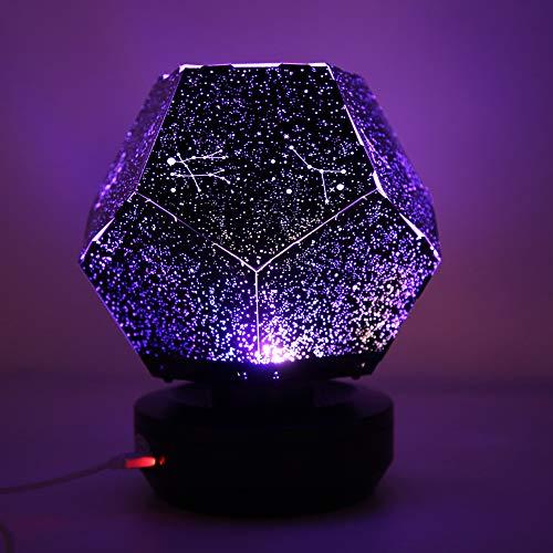 01 Lámpara de proyector de Estrella, Carga USB, Amarillo, Azul, Blanco, decoración de Dormitorio, Luces, luz romántica, Cielo Estrellado, luz para cumpleaños