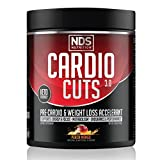 NDS Nutrition Cardio Cuts 3.0 Pre Workout Supplement - Advanced Weight Loss and Pre Cardio Formula with L-Carnitine, CLA, MCTs, L-Glutamine, and Safflower Oil - Peach Mango (40 Servings)