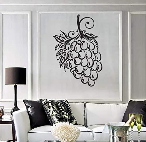 Aufkleber Vinyl Wandkunst Aufkleber Buchstaben Zitate Dekoration Trauben Bündel Beerenblätter Isabella Muscat