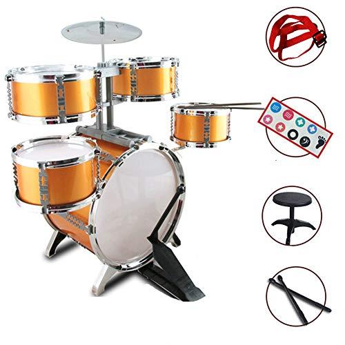 YQZ Kinder Schlagzeug Set, Anfänger-Schlaginstrument, abnehmbare freie Kombination (mit Stuhltrommelstock-Trommelgurt)