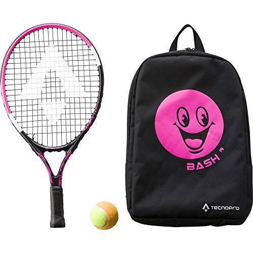 TECNOPRO Bash 19 W Rücksack Raqueta de Tenis, Unisex niños, Black/Pink, Size