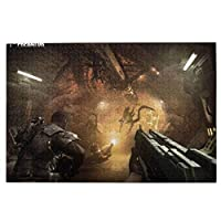 パズル 1000ピース 人気 アニメパズル 大型木製 パズルおもちゃギフト創造的な減圧diyチャレンジアート画像aliens Vs Predator (3)