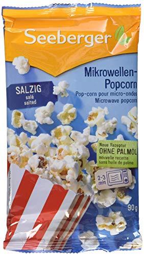 Seeberger Mikrowellen-Popcorn salzig, 25er Pack (25 x 90 g)